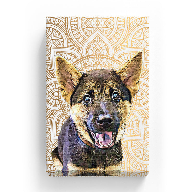 Pet Canvas - Gold Medallion