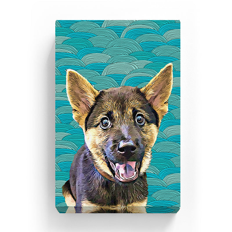 Pet Canvas - Blue Wave