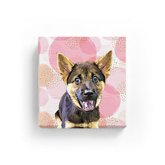 Pet Canvas - Pink Dots