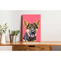 Canvas Print - Light Magenta Red
