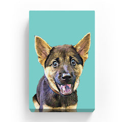 Canvas Print - Pastel Cyan Green