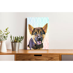Pet Canvas - Rainbow Boho