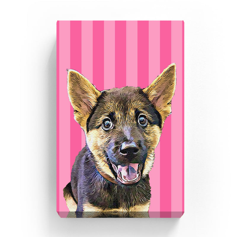 Pet Canvas - Pink Angel