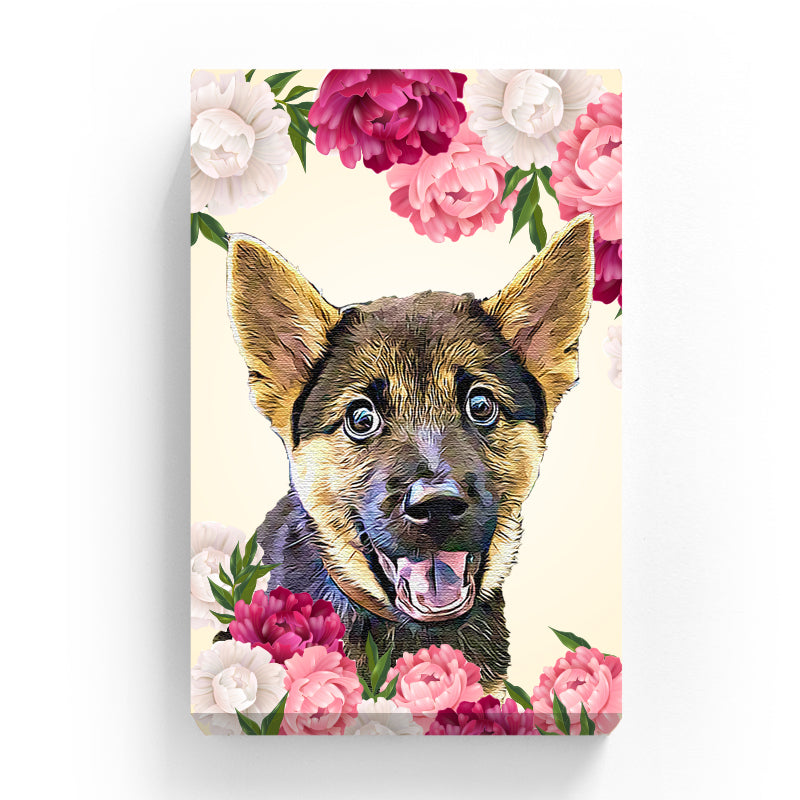 Pet Canvas - The Peony Lover