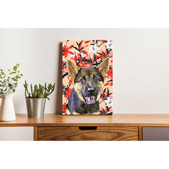 Canvas Print - Red and White Lily