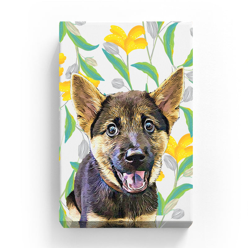Pet Canvas - Yellow Lilly