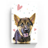 Pet Canvas - Colorful Poka Dot with Hearts