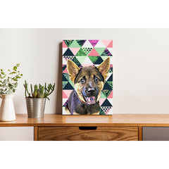 Pet Canvas - Geomatric Tropical