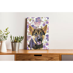 Pet Canvas - Pink and Purple Rose