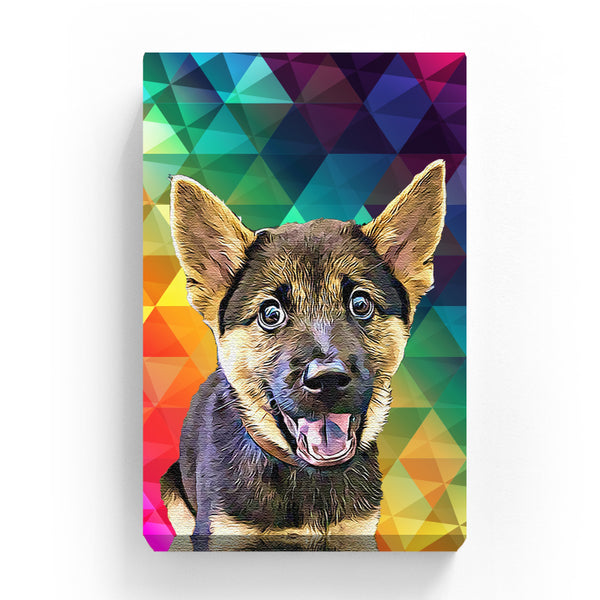 Canvas Print - Rainbow Polygonal