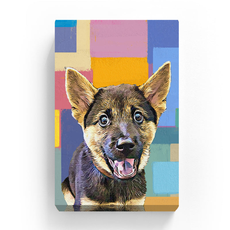 Pet Canvas - Absract Squares Color Painting