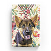 Pet Canvas - Floral Watercolor with Diamond Shape