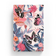 Pet Canvas - Butterfly in Pink Tropical Forest
