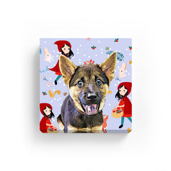 Pet Canvas - Little Red Hood with Animals