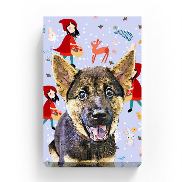 Canvas Print - Little Red Hood with Animals