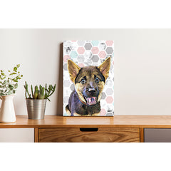 Pet Canvas - Marble Honeycomb Pattern