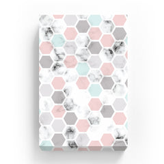 Canvas Print - Marble Honeycomb Pattern