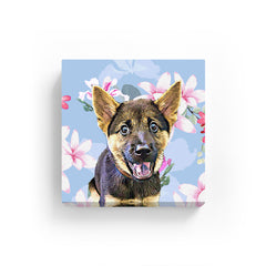 Pet Canvas - Plumeria with Pink wild Flower