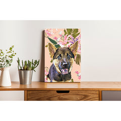 Canvas Print - Lilly Flowers on pink Pastel Background