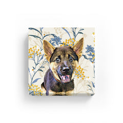 Pet Canvas - Autumn Plumeria Floral
