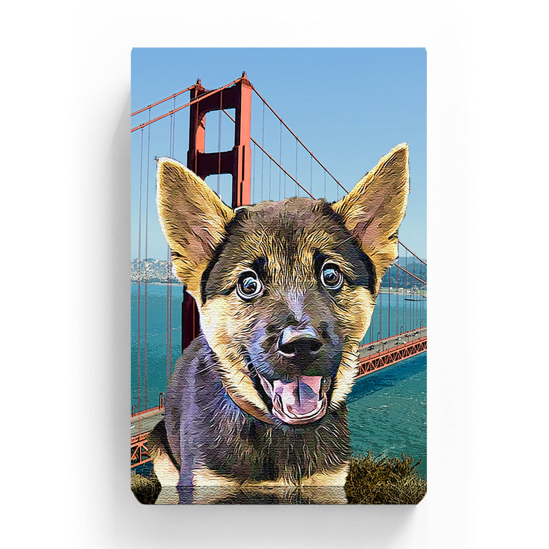 Pet Canvas - GOLDEN GATE BRIDGE