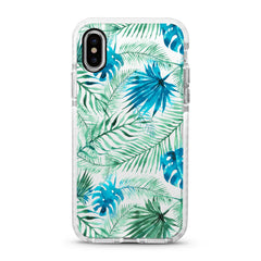 iPhone Ultra-Aseismic Case - Water Paint Palm Trees