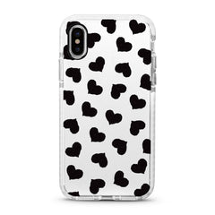 iPhone Ultra-Aseismic Case - Black Hearts
