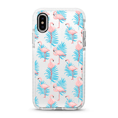 iPhone Ultra-Aseismic Case - Elegant Flamingos