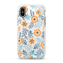 iPhone Ultra-Aseismic Case - Orange Floral