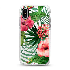 iPhone Ultra-Aseismic Case - Watercolor Tropical Pink Floral