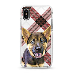 iPhone Ultra-Aseismic Case - Brown Plaid