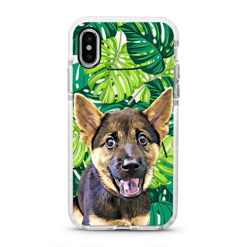 iPhone Ultra-Aseismic Case - Green Palm Tree