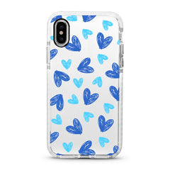 iPhone Ultra-Aseismic Case - Hand Drawing Blue Heart