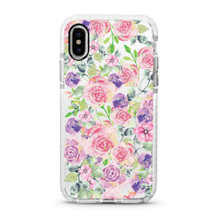 iPhone Ultra-Aseismic Case - Rose in Pink & Purple