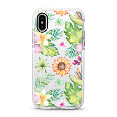 iPhone Ultra-Aseismic Case - Watercolor flowers with sun flowers