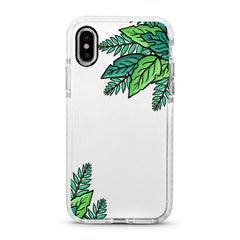 iPhone Ultra-Aseismic Case - Green Leaves