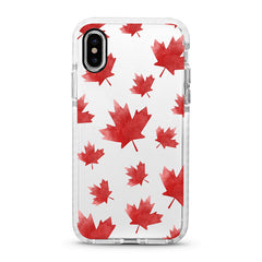 iPhone Ultra-Aseismic Case - Red Maple Leaves