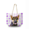 Canvas Bag - Purple Dots
