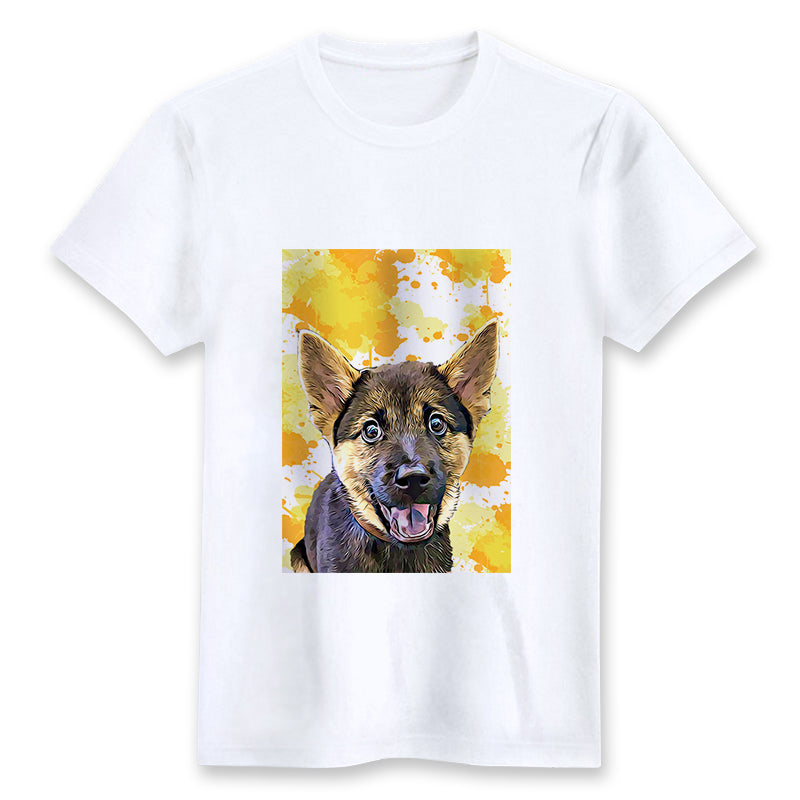 Custom T-shirt - Golden Splash 2