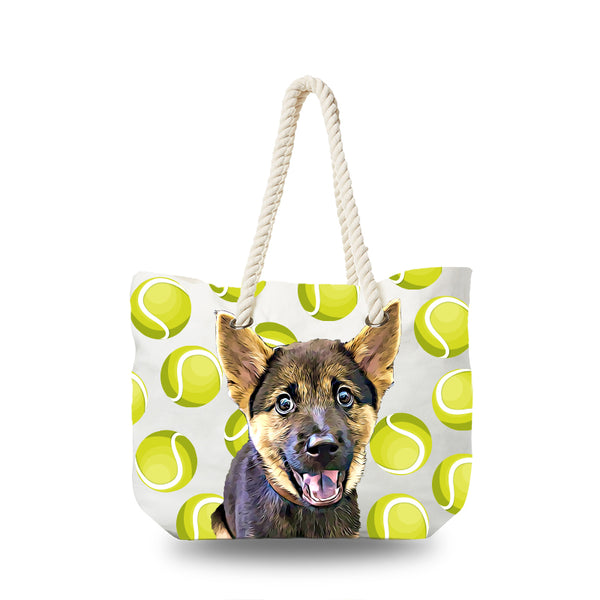 Canvas Bag - Tennis Ball