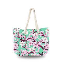 Canvas Bag - Blooming Pink Lily Flower
