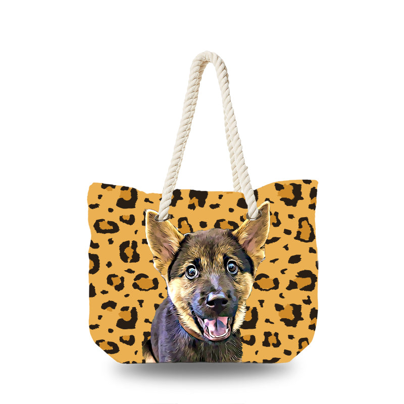 Canvas Bag - Leopard Pattern
