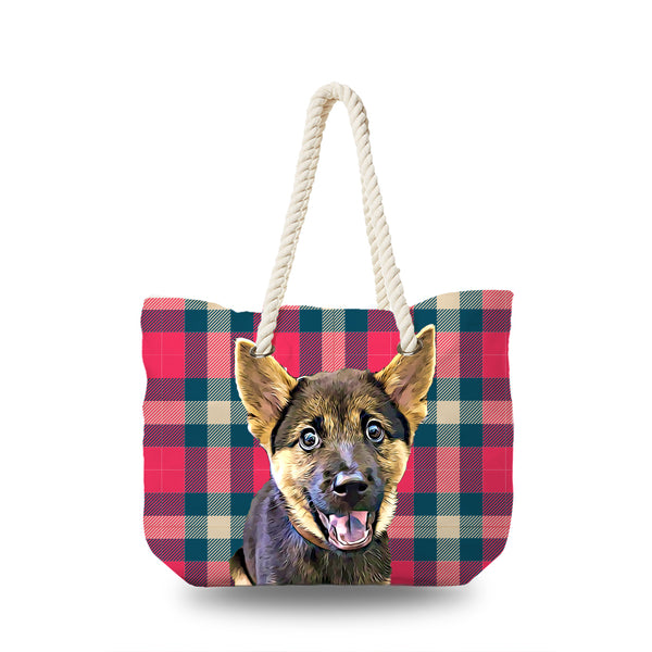 Canvas Bag - Classic Tartan and Buffalo Check Pattern