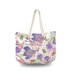 Canvas Bag - Pink and Purple Rose