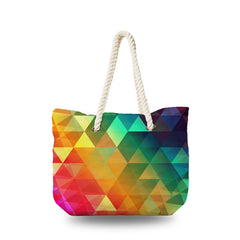 Canvas Bag - Rainbow Polygonal
