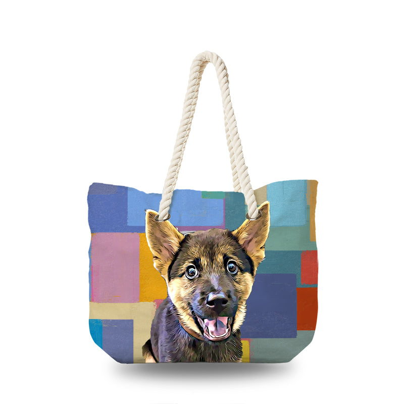 Canvas Bag - Absract Squares Color Painting