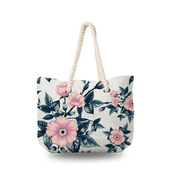 Canvas Bag - Vintage Wild Pink Rose