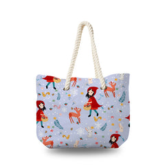 Canvas Bag - Little Red Hood with Animals