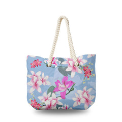 Canvas Bag - Plumeria with Pink wild Flower