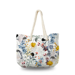 Canvas Bag - Wild Flower with Color Floral
